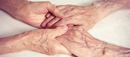 Old people holding hands. Concept of loyalty, love, reliability,