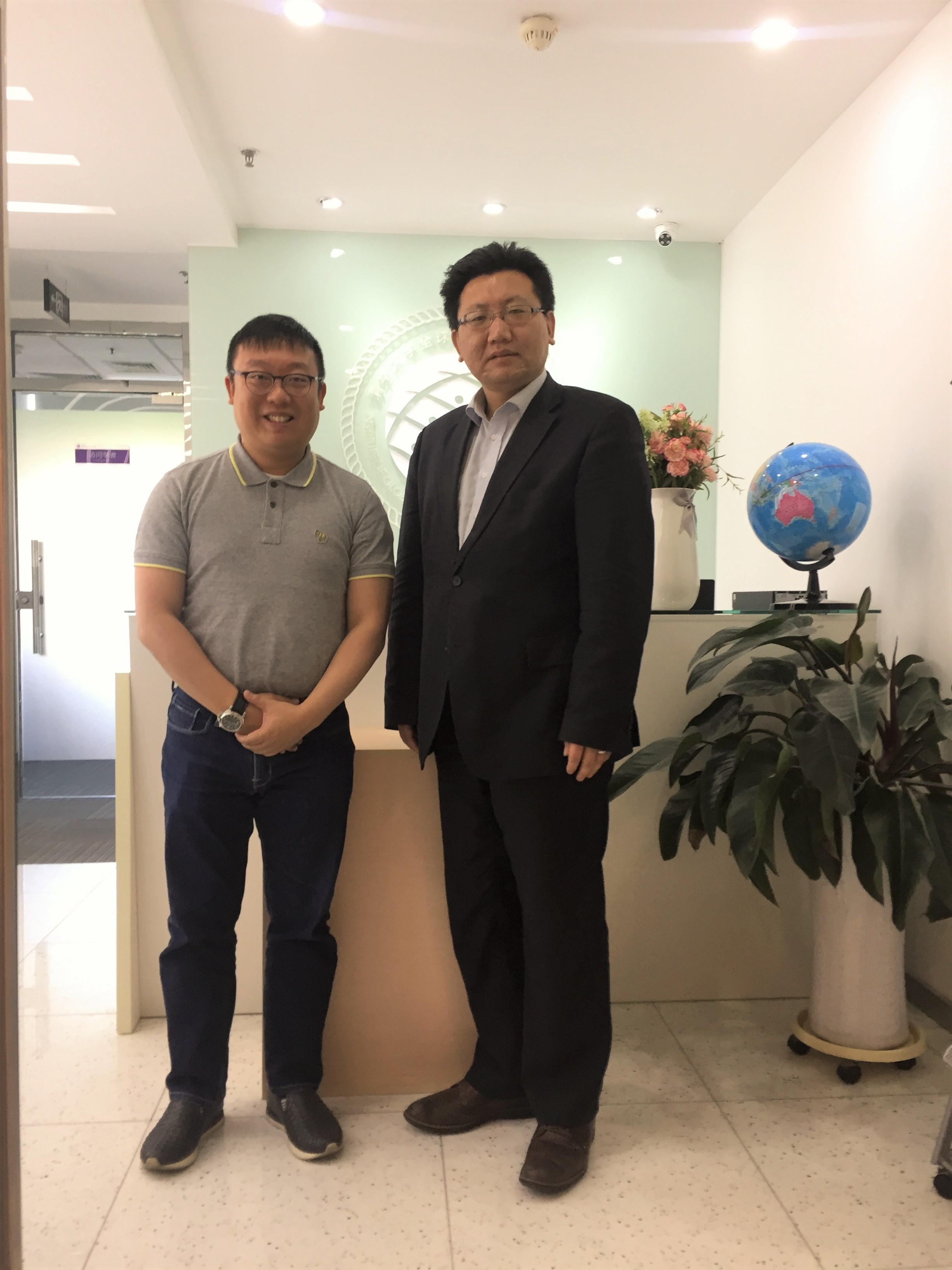 拜訪北京清華大學研究中心